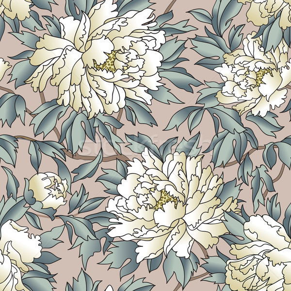 Floral seamless pattern. Flourish garden background with flowers Stock photo © Terriana