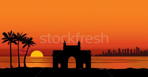 Mumbai miasta Indie miejskich panoramę wieżowiec Zdjęcia stock © Terriana