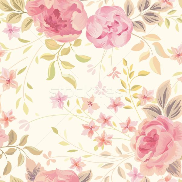 Floral fleur fleurir jardin mur Photo stock © Terriana