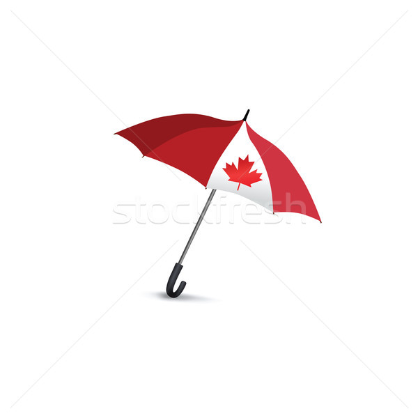 Канада флаг зонтик путешествия знак Сток-фото © Terriana