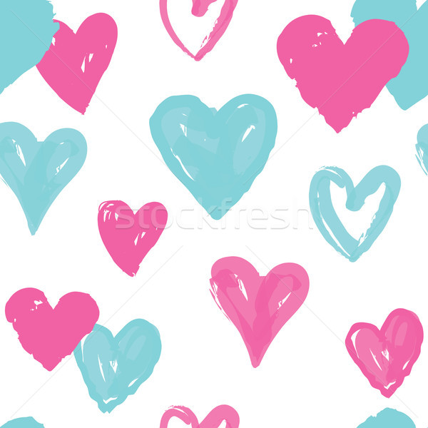 Heart seamless pattern. Holiday background. Valentine day decor Stock photo © Terriana