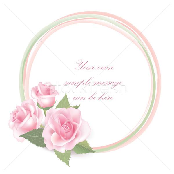 Virágmintás virág rózsa virágcsokor klasszikus borító Stock fotó © Terriana
