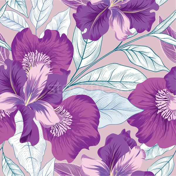 Floral Blumengarten Textur Blume Fanfare Stock foto © Terriana