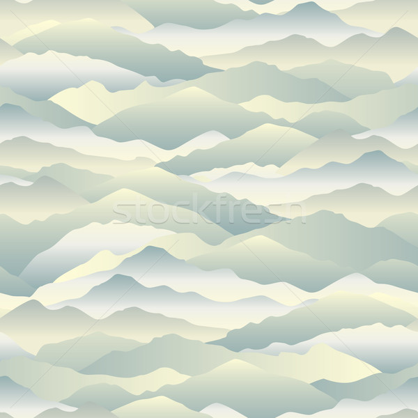 Abstract wave seamless pattern. Mountain skyline background. Land Stock photo © Terriana