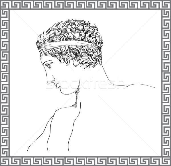 Grego escultura vetor esboço Foto stock © Terriana