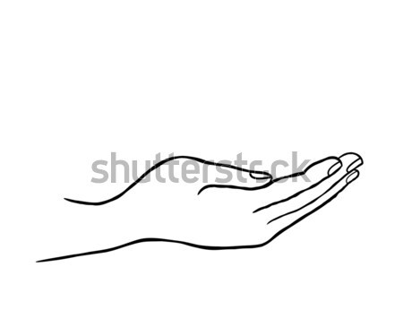 Signe de la main soutien icône doodle ligne art Photo stock © Terriana