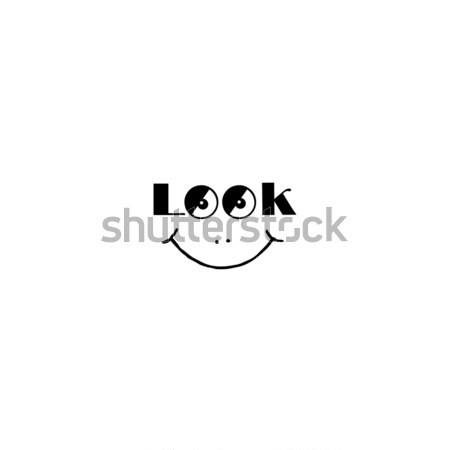 Smile sign. Look at me smily symbol. Good mood icon with smiling Stock photo © Terriana