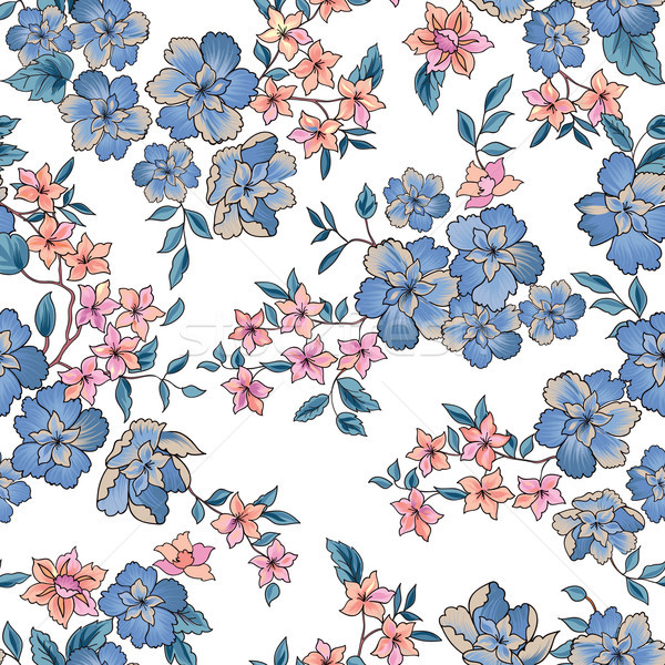 Floral seamless pattern. Abstract ornamental flowers. Stock photo © Terriana