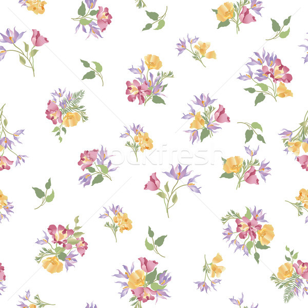 Floral jardin de fleurs blanche Photo stock © Terriana