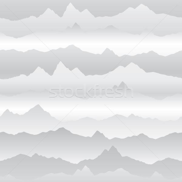Abstract wavy mountain skyline background. Nature landscape wint Stock photo © Terriana