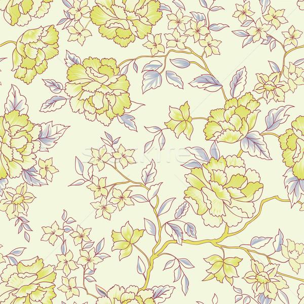 Virágmintás végtelen minta kert virág minta végtelenített Stock fotó © Terriana