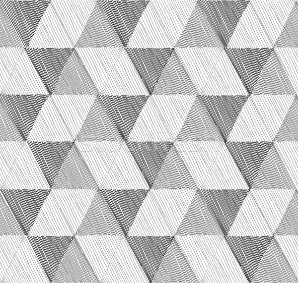 Bezszwowy geometryczny wzór zestaw w stylu retro streszczenie wektora Zdjęcia stock © Terriana