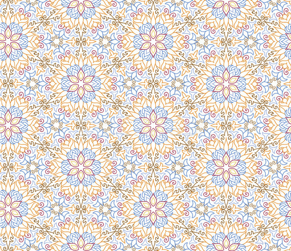 Fanfare Mosaik gefliesten Muster floral orientalisch Stock foto © Terriana
