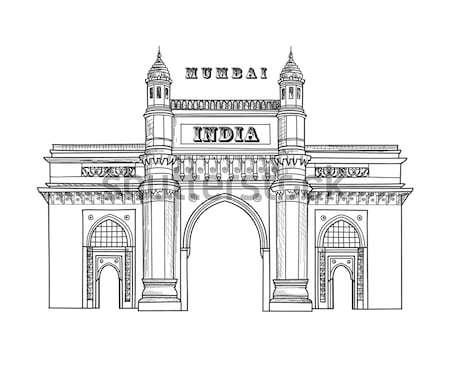 Mumbai Stadt Indien städtischen Skyline Wolkenkratzer Stock foto © Terriana