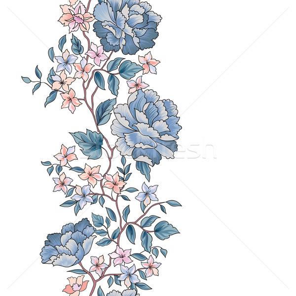 Bloem grens wenskaart ontwerp Stockfoto © Terriana