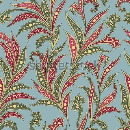 Flower tile pattern. Floral oriental ethnic background. Arabic o Stock photo © Terriana