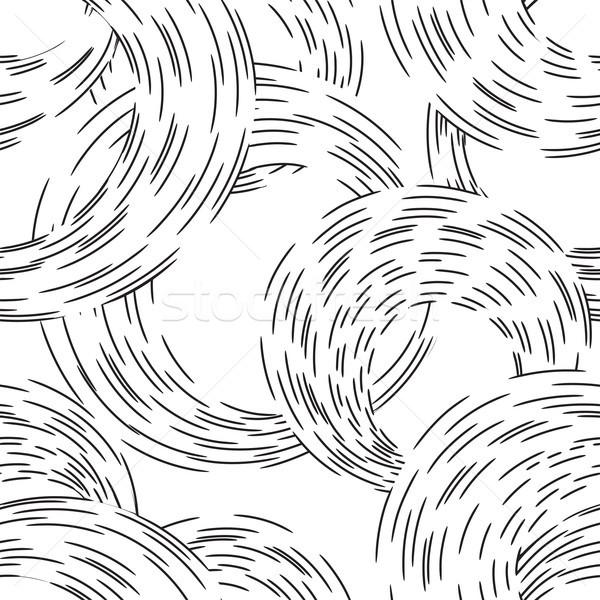 Сток-фото: аннотация · ряби · линия · круга · волнистый