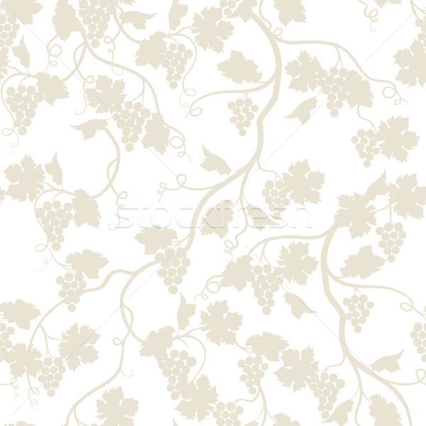 Grape branch garden seamless pattern. Wineyard garden. Floral ba Stock photo © Terriana