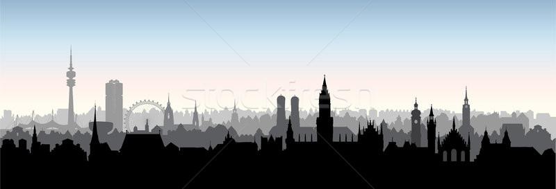 Munique cidade Alemanha ponto de referência edifícios linha do horizonte Foto stock © Terriana