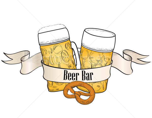 Beer bar banner in retro style Stock photo © Terriana