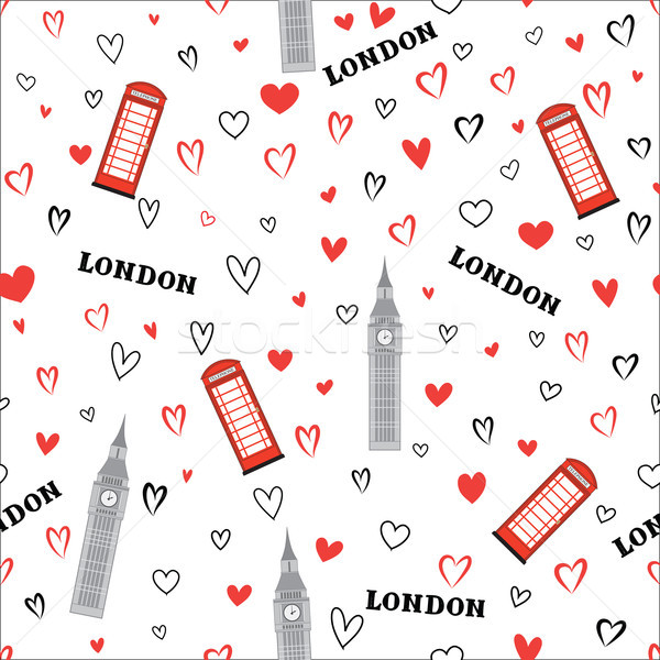 Travel seamless pattern. London vacation wallpaper. English land Stock photo © Terriana