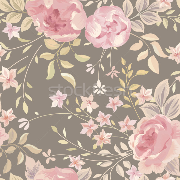 Floral seamless pattern. Flower background. Flourish garden text Stock photo © Terriana
