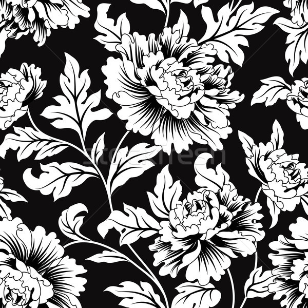 Floral Seamless Pattern Flowers And Leaves Garden Background Vector Illustration C Terriana 9073194 Stockfresh