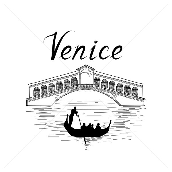 Venice famous place view Travel Italy background. City bridge. Stock photo © Terriana