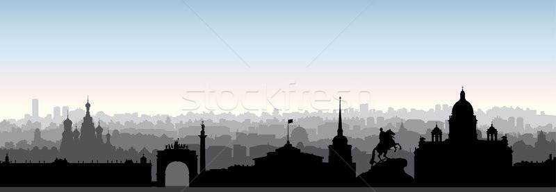 Russie touristiques repère silhouette Photo stock © Terriana