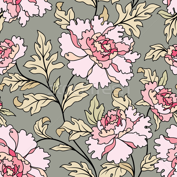 Floral seamless pattern.  Flowers and leaves garden background Stock photo © Terriana
