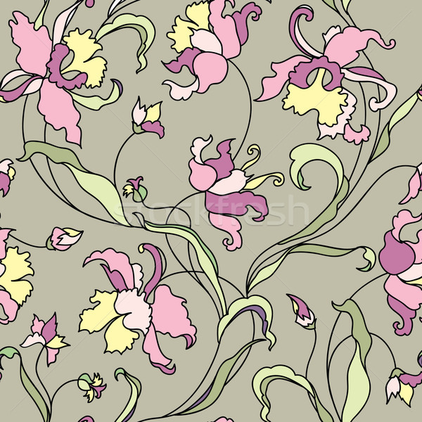 Floral tile pattern. Flower background. Garden texture Stock photo © Terriana