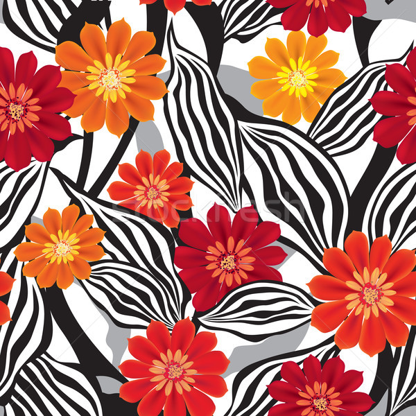 Floral pattern. Flower seamless background. Flourish ornamental garden Stock photo © Terriana