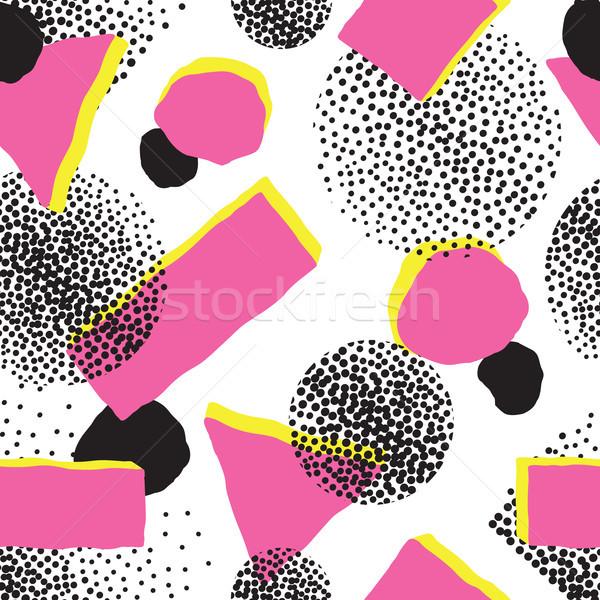 Absztrakt végtelen minta mértani pontozott díszítő fehér Stock fotó © Terriana