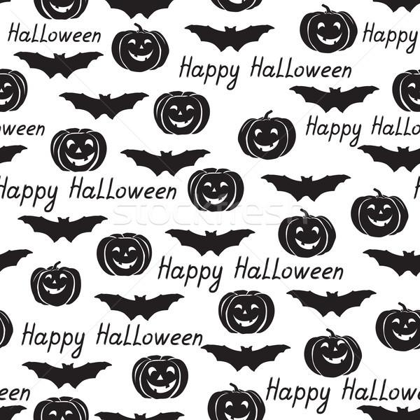 Halloween tatil bat kabak mutlu Stok fotoğraf © Terriana