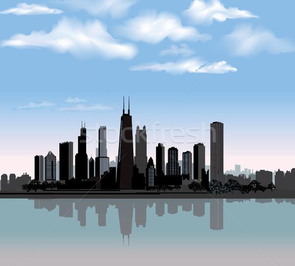 Chicago kentsel manzara seyahat ABD Stok fotoğraf © Terriana
