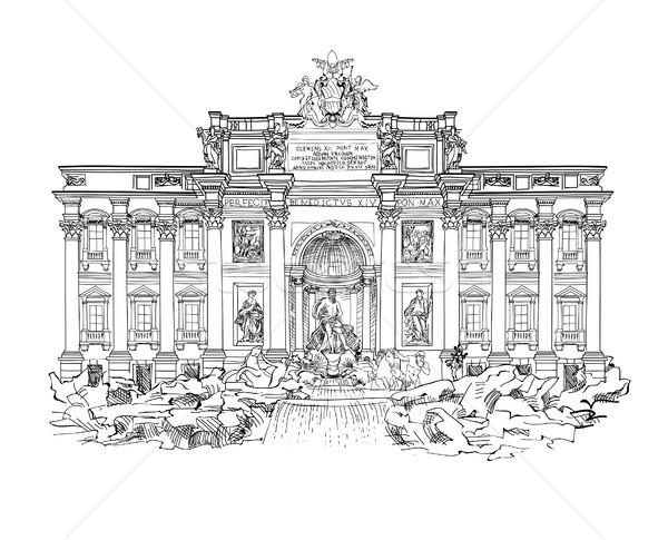 Рим город известный ориентир Фонтан Треви путешествия Сток-фото © Terriana