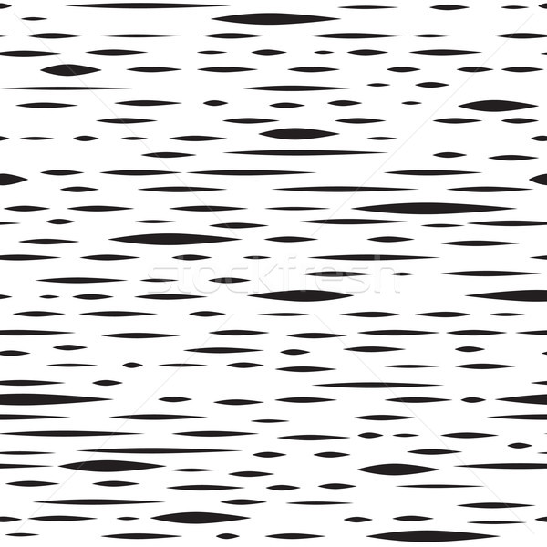 Abstract irregular blot seamless pattern. Black and white stripe Stock photo © Terriana