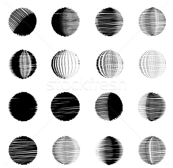 Geometrik anlamaya kroki daire düğme Stok fotoğraf © Terriana