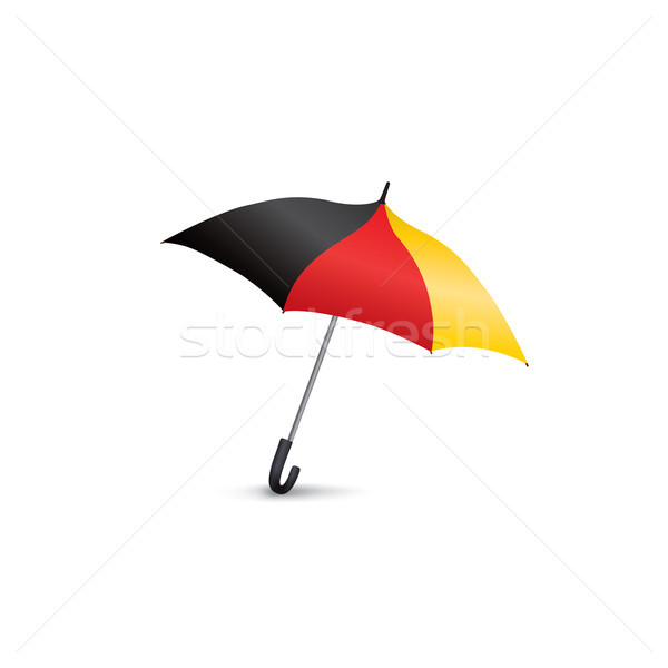 German flag colored umbrella. Season fashion accessory. Travel G Stock photo © Terriana