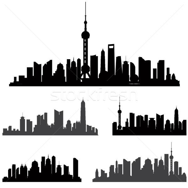 Шанхай набор город зданий Cityscape мнение Сток-фото © Terriana