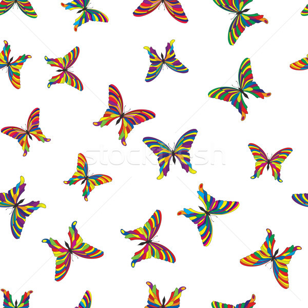 Butterfly seamless pattern. Summer holiday tropical background Stock photo © Terriana