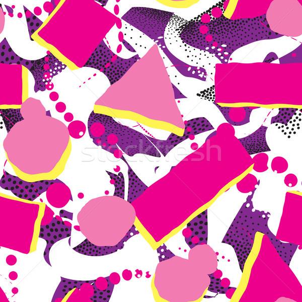 Abstract punteggiata pittura geometrica piastrelle Foto d'archivio © Terriana