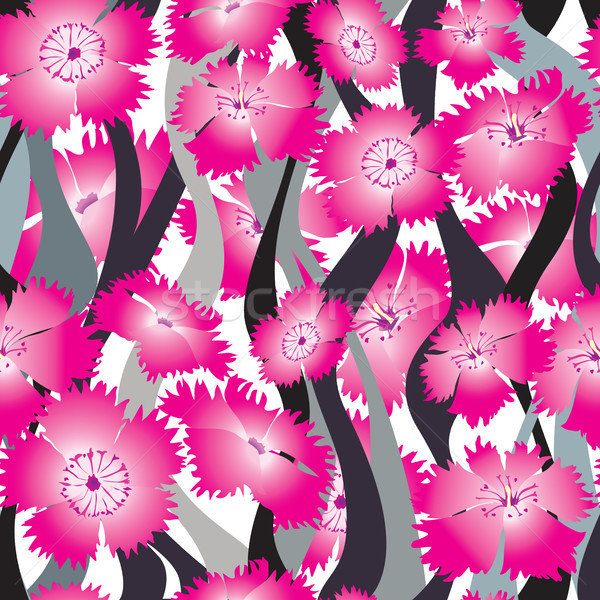 Flower wave seamless background. Floral pattern. Stock photo © Terriana