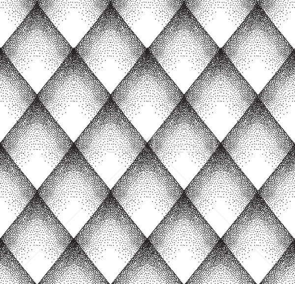 Abstract dot seamless pattern. Spotted diamond ornamental texture. Stock photo © Terriana