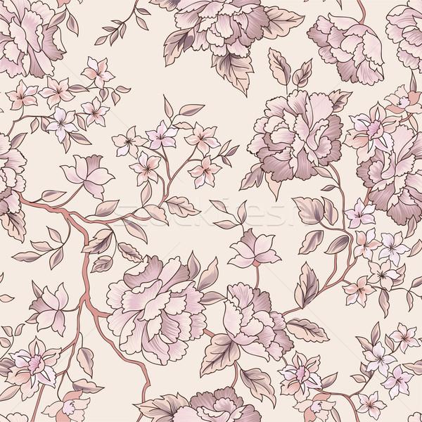 Floral jardín flor patrón sin costura Foto stock © Terriana