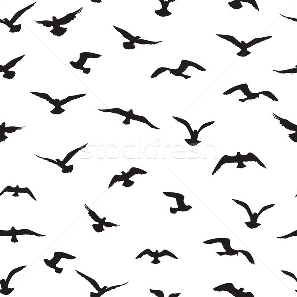 Flying birds tiled pattern. Freedom sign background. Animal wildlife Stock photo © Terriana