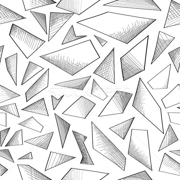 Soyut geometrik köpük karalama model Stok fotoğraf © Terriana