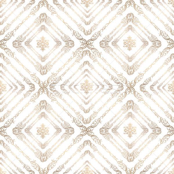 Resumen cuadrados ornamento árabe geométrico Foto stock © Terriana