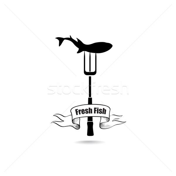 Hal tengeri hal felirat vízalatti tengeri étel Stock fotó © Terriana