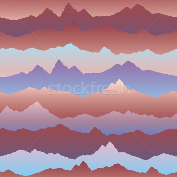 Absztrakt hullámos kardio hatás végtelen minta hegy Stock fotó © Terriana